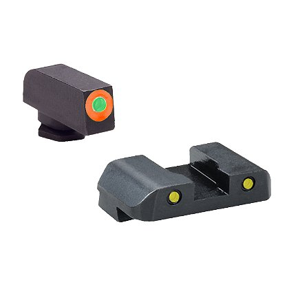 AmeriGlo Smith & Wesson M&P Tritium Spartan Tactical Sight Set, Fits All M&P models (except Shield), 3 Dot with Green Rear Sight