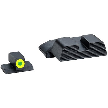 AmeriGlo: Smith & Wesson M & P Tritium Protector Sight Set fits All M&P models (except Shield) with LimeLumi Outlined Front