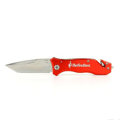 TheFireStore: Exclusive Firefighter Rescue Knife, Tanto Blade and Red Handle