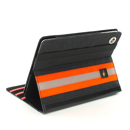 TheFireStore iPad Case, Black PBI Turnout Gear, Orange Triple Trim