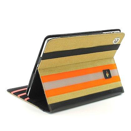 TheFireStore iPad Case, Tan PBI Turnout Gear, Orange Triple Trim