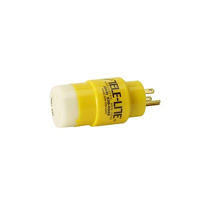 Tele-Lite  Adapter, Male 15A, 125V Straight  Blade to Female 20A, 125V Twist Lock