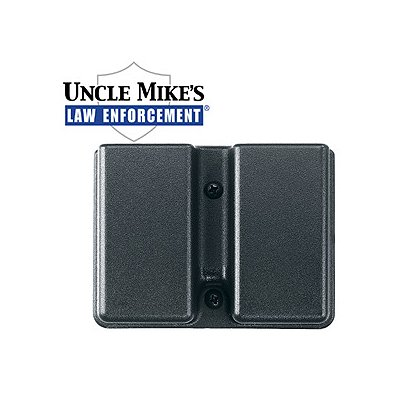 Uncle Mike's Kydex Double Mag Holder, Fits Two Single Stacked Magazines Front-to-Back