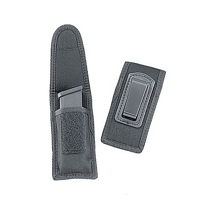 Uncle Mike's Single Mag Case w/Belt Clip, Black Cordura Nylon