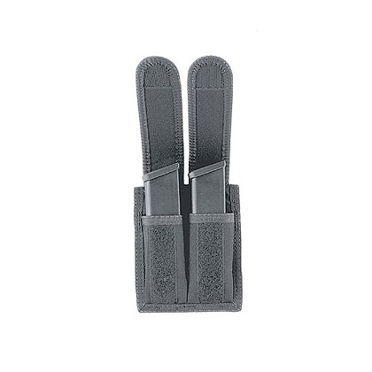 Uncle Mike's Universal Dual Pistol Mag Case, VELCRO® brand Closure, Black Cordura Nylon