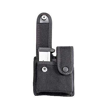 Uncle Mike's: Double Mag Case, Snap Closure, Single Row Mags, Black Cordura Nylon