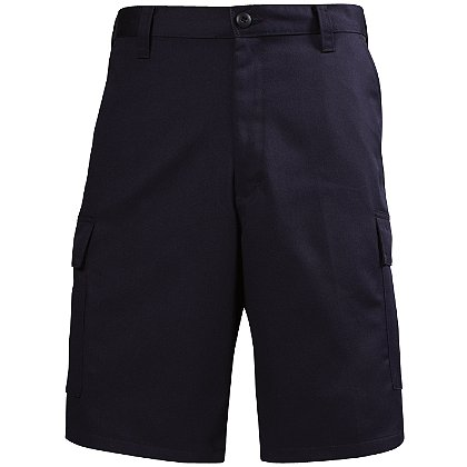 Lion: EMS Navy Flat Front Shorts, 100% Cotton 7.75 oz/yd Twill Weave