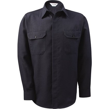 Lion StationWear: Brigade 4.5oz. Plain Weave Navy Long Sleeve Nomex IIIA Shirt