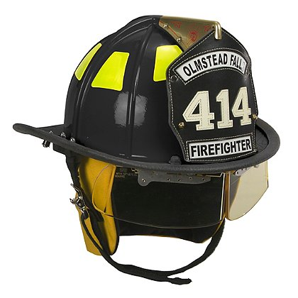 Cairns: 1010 Black Traditional Fiberglass Helmet, NFPA, OSHA