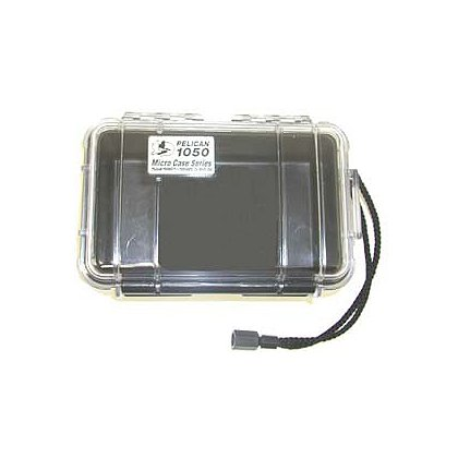 Pelican Micro Case, Model 1050, Black with Clear or Black Lid