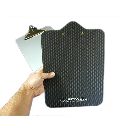 "Hardwire Ballistic Clipboard, NIJ Level IIIA, 10"" x 13"", 109"