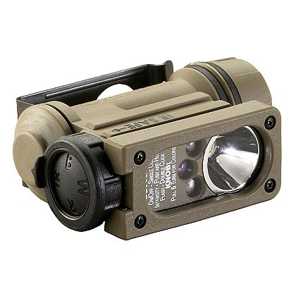 "Streamlight: Sidewinder Compact II, Hands-Free Multi-LED Flashlight, Multiple Power Source*, 55 Lumens, 3"" Long"