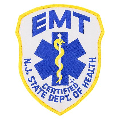 Exclusive New Jersey Emergency Medical Technician Embroidered Patch, 4