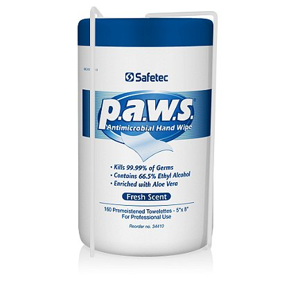 Safetec: Paws, Wipes Holder, Wall-mount Bracket for 160ct. Canister