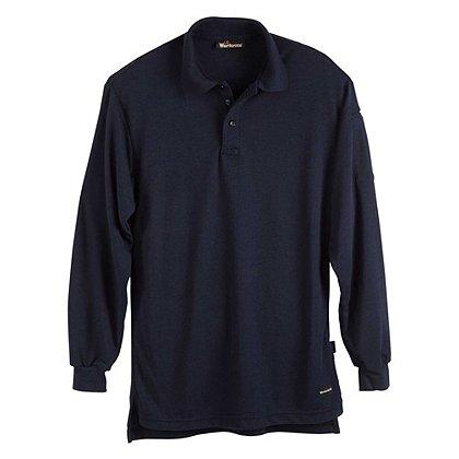 Workrite: 6.7 oz. Tecasafe Long Sleeve Polo, Navy, Large