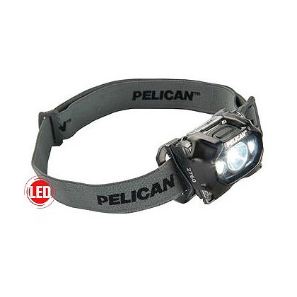 Pelican 2760 LED Headlight, 3 AAA Batteries, 204 Lumens, 2.25� Long