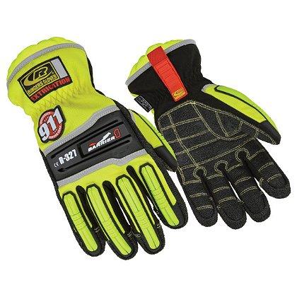 Ringers: Barrier 1 Extrication Gloves, Short Cuff, Hi-Viz