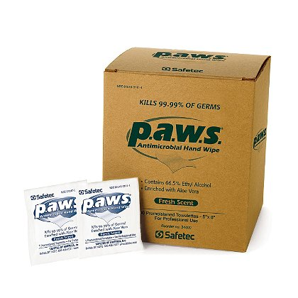 Safetec: p.a.w.s. Antimicrobial Hand Wipes