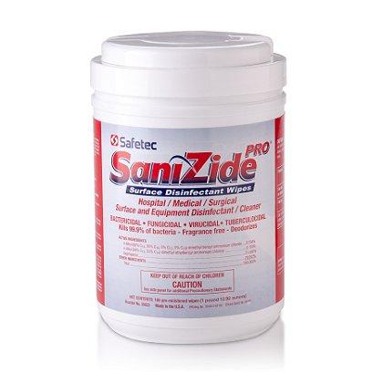 Safetec SaniZide Pro 2-Minute Disinfectant Wipes