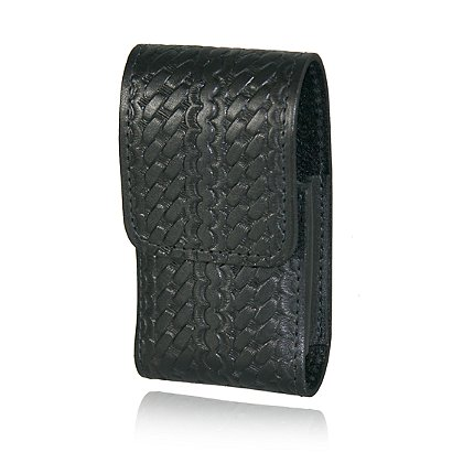 Boston Leather: iPhone Cell Phone Holder w/Clip Back, Basket Weave Leather