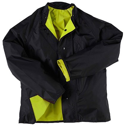 Neese: Reversible Hi-Vis Lime/Black Jacket with 3M, Poly/Nylon