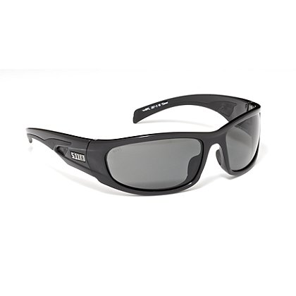 5.11 Tactical Shear Eyewear, Black Frame Plain Smoke lenses