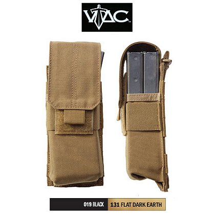 5.11 Tactical Stacked Single Mag Pouch with Cover, Sandstone