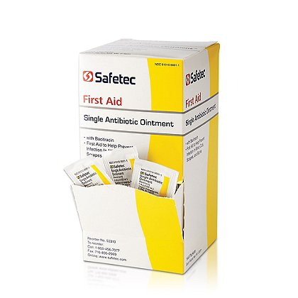 Safetec Single Antibiotic Ointment with Bacitracin