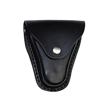 Boston Leather: Economy Handcuff Holder w/Snap Closure and Slotted Back, Black