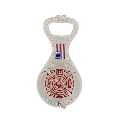 TheFireStore Exclusive Bottle Opener with Maltese Cross and American Flag