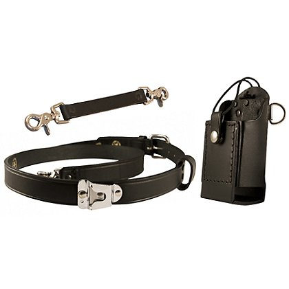 Boston Leather: TheFireStore Combo Kit FDNY Radio Strap w/ Motorola Clip & Anti-Sway Strap
