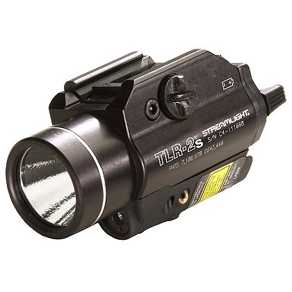 """Streamlight: TLR-2/TLR-2s Rail-Mounted C4 LED Weapon Light with Laser Sight, 2 CR123A Batteries, 300 Lumens, 3.39"""" Long"""