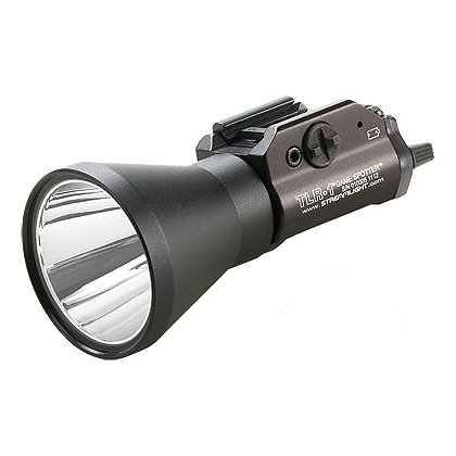 "Streamlight: TLR-1 GAME SPOTTER Long-Range Rail Mounted Green C4 LED Weapon Light, 2 CR123A Batteries, 150 Lumens, 4.83"" Long"