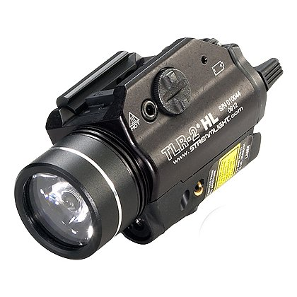 "Streamlight: TLR-2 HL High Lumen Rail Mounted C4 LED Weapon Light with Red Aiming Laser, 2 CR123A Batteries, 800 Lumens, 3.39"" Long"