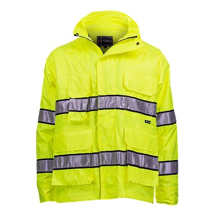 Gerber Outerwear: Medix 3-in-1 HV Parka and Fleece Liner, Lime Yellow ANSI 107 Class 3