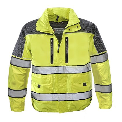 Gerber Outerwear: Eclipse SX Waist Length Jacket with Removable Liner, ANSI 107 Class 3 and ASTM F1671