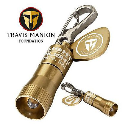 Streamlight Bronze Travis Manion Foundation Nano Miniature Key Chain Light, 4 IEC-LR41 Coin Cells, 10 Lumens, 1.47
