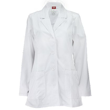 Dickies Women's Fashion Lab Coat White