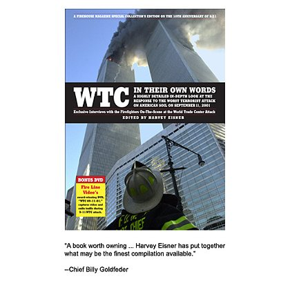 Firehouse Magazine Special Collectors Edition WTC In Their Own Words, Paperback, 274 pgs.