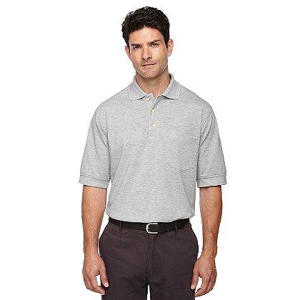 Ash City: Men's Short Sleeve Pique Polo w/ Pocket