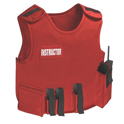 Armor Express: Instructor Carrier with Ballistics, FMS Level IIIA Body Armor Panels, Red