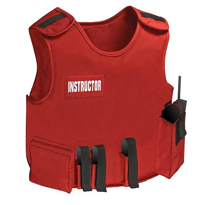 Armor Express: Instructor Carrier Vest with Tails, Red, No Ballistics
