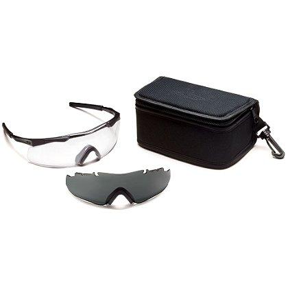 Smith Optics: Aegis ARC Compact Eyeshield Field Kit, Black Frame/Clear Lens, Gray Spare Lens