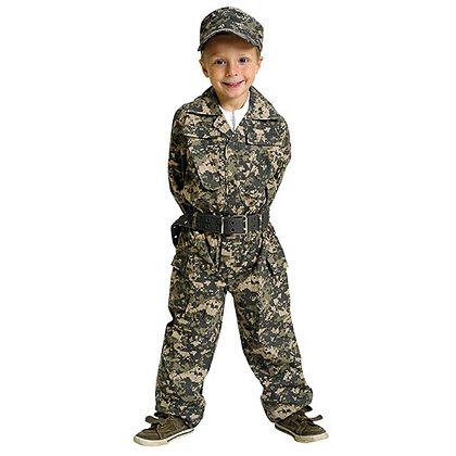 AeroMax Jr. Camouflage Suit with Cap and Belt
