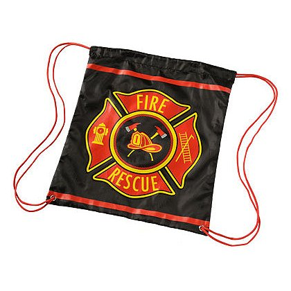 TheFireStore: Firefighter Drawstring Backpack