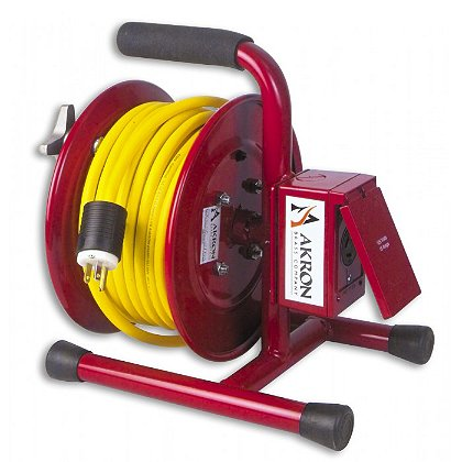 Akron Manual Live Cord Reel with 25', 50' or 100' Cord Set