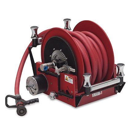 """Akron: Electric Booster Hose Reel  for .75"""" or 1"""" Booster Hose"""
