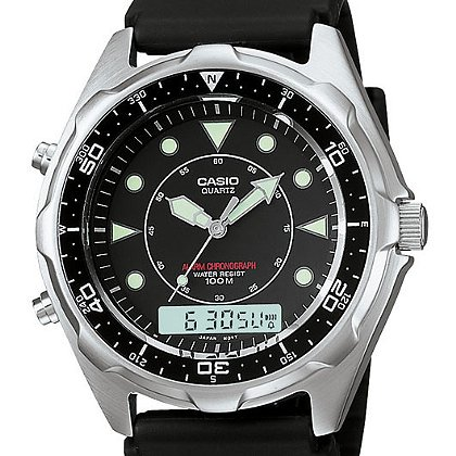 Casio: Dive Analog/Digital Watch, Black