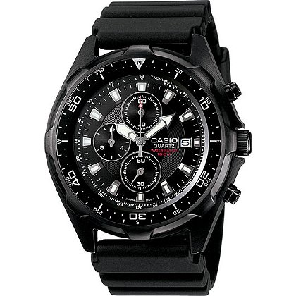 Casio Dive Chronograph Watch, Black Band