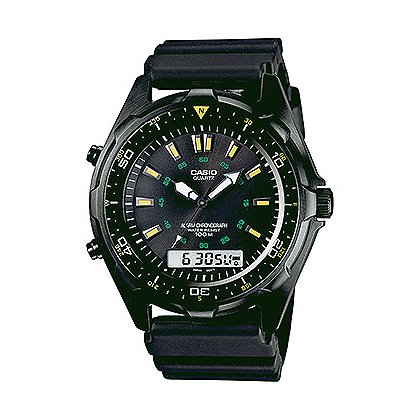 Casio: Dive Analog/Digital 100M WR Black IP Case